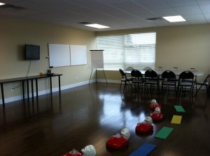 First Aid and CPR Training Classroom